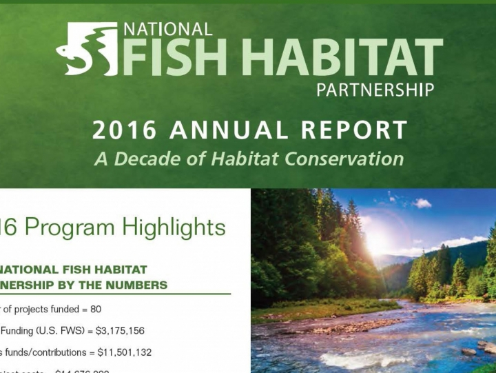 National Fish Habitat Partnership Annual Report Available Now