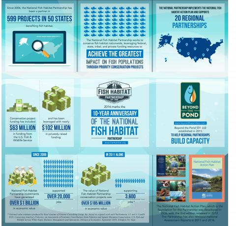 National Fish Habitat Partnership Infographic Captures 10 Years of Success