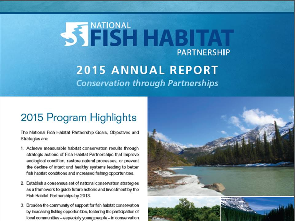 National Fish Habitat Partnership 2015 Annual Report